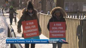 Parents reaction to the start of rotating Ontario elementary teachers' job action