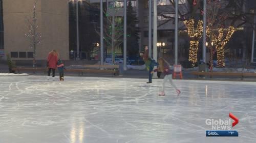 Edmonton man puts on social skates to help women's shelters   Watch News Videos Online