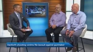 Danforth shooting victims file lawsuit against gun maker Smith & Wesson (04:28)