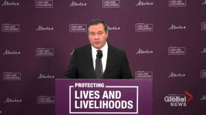 Kenney says province on track to start relaxing COVID-19 restrictions in 'about a month' (03:10)
