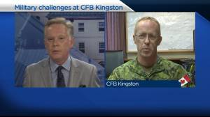 New commander of CFB Kingston addresses RMC cyber ransomware attack, ongoing COVID-19 response (04:46)