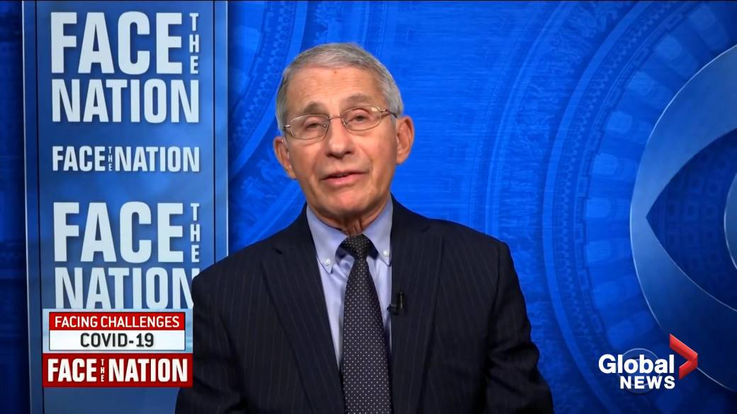 Click to play video 'Coronavirus: Fauci says vaccines offer 'best protection' against evolution of virus'