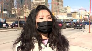 Hundreds of cars line Winnipeg streets for anti-Asian hate vehicle rally (01:56)