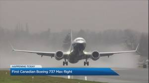Canadian Boeing 737 Max returns to the skies (03:53)