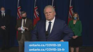 COVID-19: Ontario premier says there's concern health-care workers not taking up 1st dose vaccination spots (01:34)