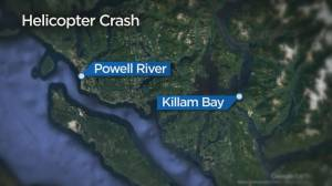 One person dead after helicopter crash near Powell River, B.C. (00:33)