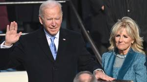 Biden inauguration: Joe Biden takes presidential oath of office (02:49)