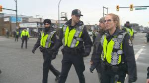 Police make arrests at Port of Vancouver protest