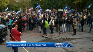 Coronavirus: Anti-maskers gather in Montreal after mayor tells them to protest in potato field