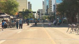 Jasper Avenue goes car-free
