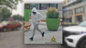 RCMP release video of suspect in Kelowna gang shooting and confirm live bomb found at scene (01:57)