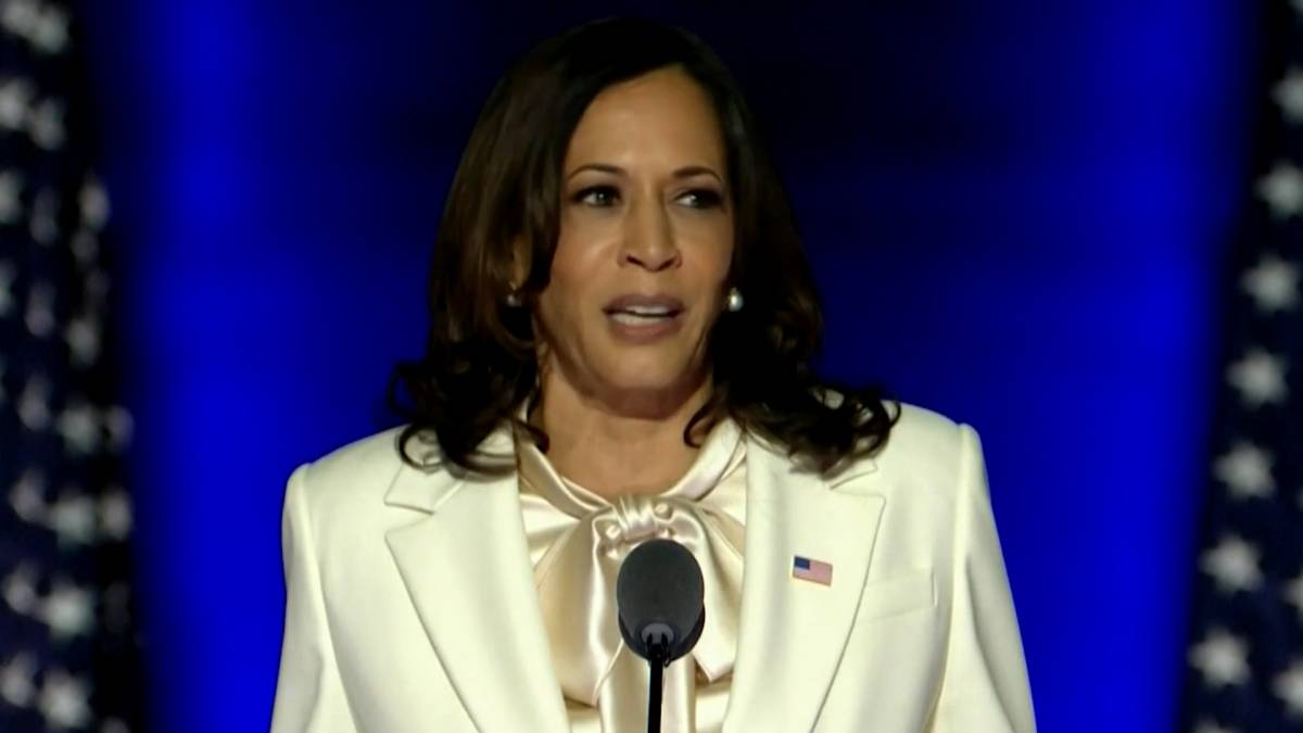 Click to play video 'U.S. election: VP-elect Kamala Harris says road ahead won't be easy, 'but America is ready''