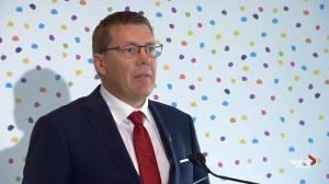 Scott Moe announces opening of Jim Pattison Children's Hospital