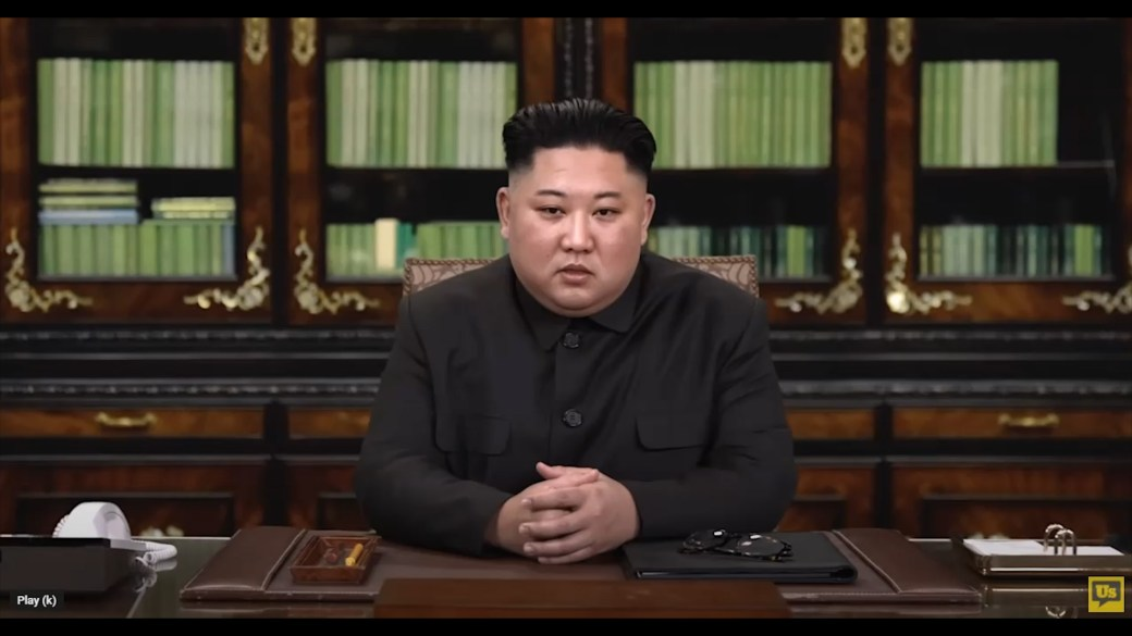 Click to play video ''Deepfake' technology takes centre stage in campaign ads featuring King Jong Un, Vladimir Putin'