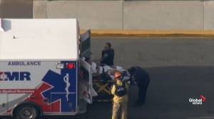 Wounded loaded onto stretchers following school shooting in California