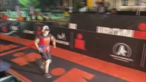 B.C.'s Elizabeth Model completes 100th Ironman (01:22)