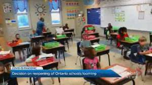 Premier trying to get general 'consensus' before deciding on reopening Ontario schools (02:14)