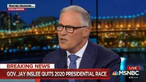 Jay Inslee announces on-air he's dropping out of U.S. presidential race