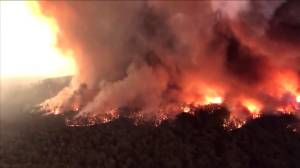 Wildfires prompt one of the largest civilian evacuations in Australian history