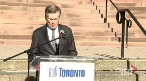 Remembrance Day 2020: Toronto Mayor Tory says despite COVID-19, 'chain of remembrance' won't be broken (01:17)