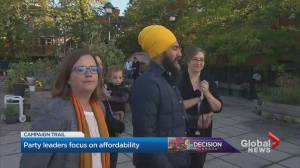 Canada election: Candidates focus on affordability during day 7