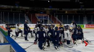 Pair of Lethbridge Hurricanes enjoying stop in AJHL (02:01)