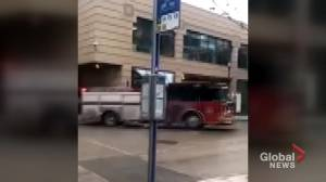 Winnipeg man steals fire truck, allegedly attempts to hit pedestrians