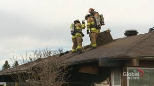 Calgary fire crews battle blaze at Abbeydale home