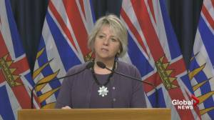 Dr. Bonnie Henry says British Columbians could see an easing of some COVID-19 restrictions (01:45)