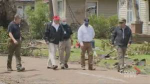 Hurricane Laura: Trump tours storm-ravaged areas in Louisiana