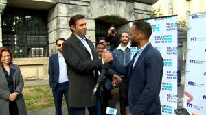 Holness, Desjardins team up to run against Plante and Coderre (01:53)