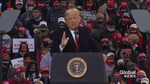 U.S. election: Trump renews call for 'poll watchers' at New Hampshire campaign stop (04:14)
