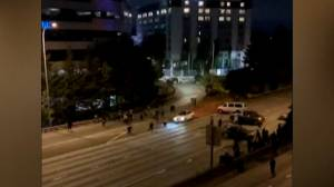 Video purports to show moment before vehicle in Seattle hits 2 people during protest