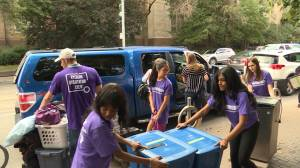 Move-in day at Ryerson University in Toronto