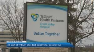 Dozens of staff at Trillium Health Partners hospitals test positive for coronavirus (03:00)