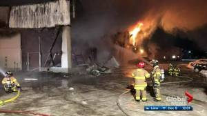 Fire destroys car dealership in Edson