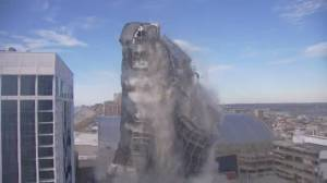 Trump Plaza casino comes down in Atlantic City implosion (01:13)