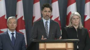 "Trudeau says Iran must take ""full responsibility"" for downing of Ukrainian jetliner (02:23)"