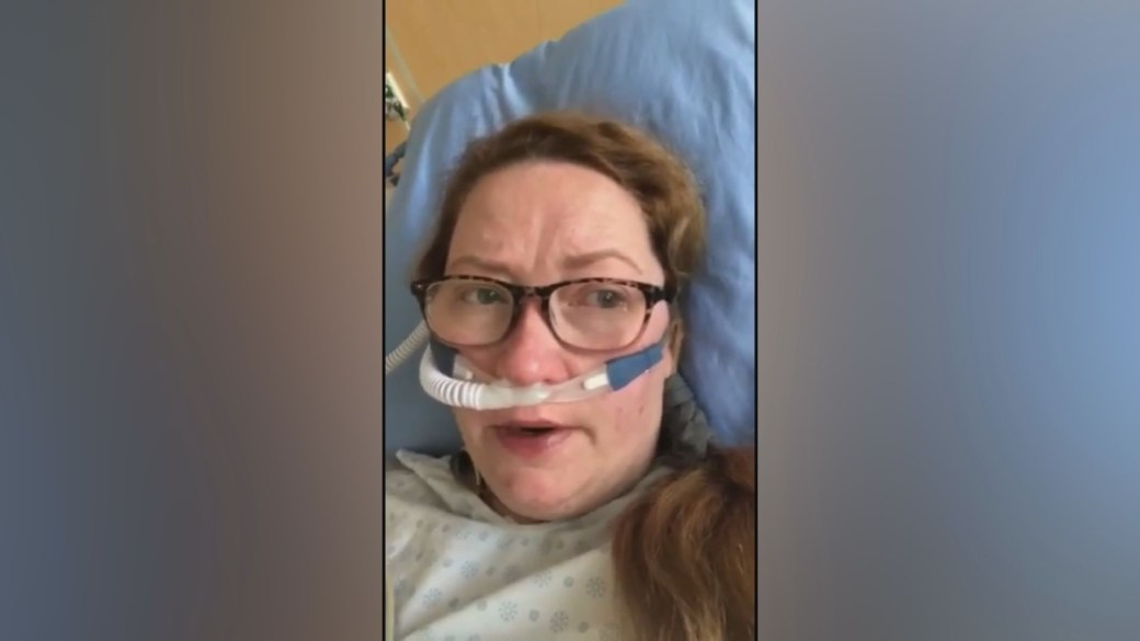 Click to play video: 'COVID-19 patient pleads with others to get vaccinated'