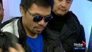 Legendary boxer Manny Pacquiao visits Calgary to promote his other passion