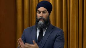Singh questions Trudeau's support to end limits on blood donations from gay men (01:07)