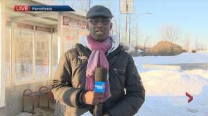 Bus stop disappears in Pierrefonds