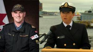 'Fair winds and following seas,': Navy spokesperson reads statement on behalf of the family of Sub-Lt. Matthew Pyke (03:58)