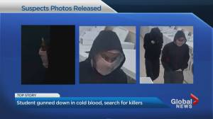 Toronto police determined to identify 2 suspects wanted for murder of innocent student (02:50)