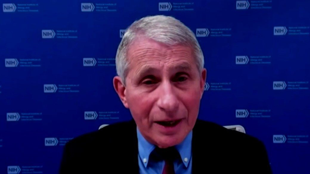 Click to play video 'Coronavirus: Fauci says U.S. needs to get vaccinated 'when it becomes available' despite variants'