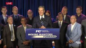 Manitoba Election: Pallister says they will work with Manitobans to 'build on province's foundation'