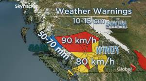 B.C. evening weather forecast: Oct 24