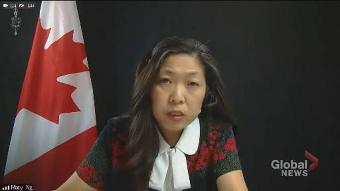 Click to play video: Ng says Canada 'actively' participating in negotiations to waive patent protection for COVID-19 vaccines