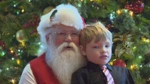 Silent Santa meets children with autism
