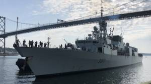 HMCS Fredericton returns after six-month mission marred by tragic helicopter crash